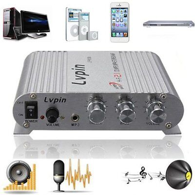 200W 12V Mini Hi-Fi Amplifier Booster Radio MP3 Stereo for Car Motorcycle YP