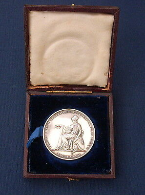 Rare University College London Silver Medal for Medicine 1851-52 in Orig Case
