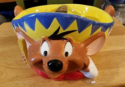 Warner Bros Studio Store Speedy Gonzalez Chip and Salsa Bowl from 1998