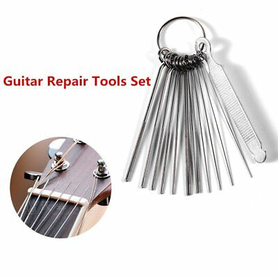 Guitar Nut Slotting File Saw Rods Slot Filing Set Luthier Replacement YP