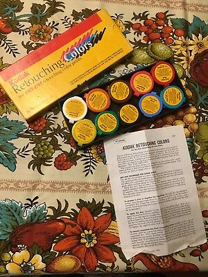 Kodak Retouching Colors Dry-Dye Color Prints Photography Coloring Vintage Unused