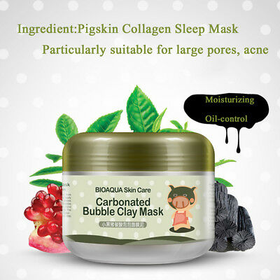 Bubble Clay Mask Bioaqua Carbonated Deep Pore Cleansing Blackheads Anti-Acne YT