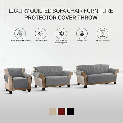 Sofa Protector Throw Slip Cover Dog Cat Pet Waterproof 1/2/3 Seater
