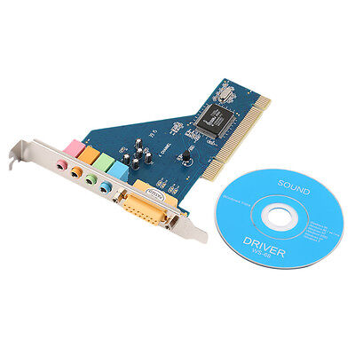 New 4 Channel 5.1 Surround 3D PCI Sound Audio Card for PC Windows XP/Vista/7 YP