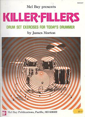 Killer fillers vintage drum set exercises book Mel Bay single double stroke 1988