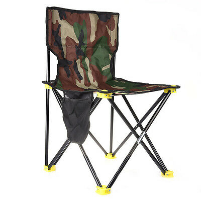 Portable Camouflage Outdoor Camping Folding Stool Pinic Fishing Backrest Chairs