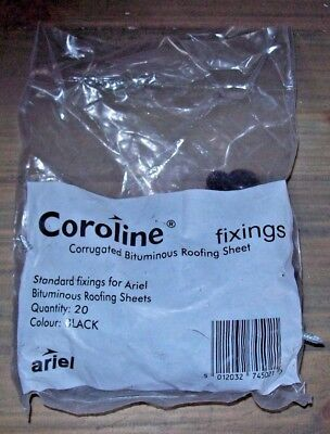 Coroline Roofing Corrugated Bitumen Roof Sheet Fixings (20 pack)