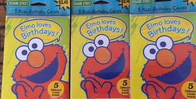 Sesame Street Birthday Invitations Elmo Big Bird & More 15 Total Invites