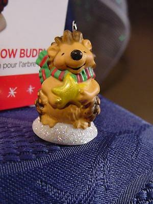 NEW 2016 HALLMARK MINIATURE CHRISTMAS ORNAMENT QUILL You be my SNOW BUDDY ?