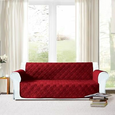 Sofa Slip Cover Quilted Polyester Pet Protector Furniture Throw 1,2,3 seater