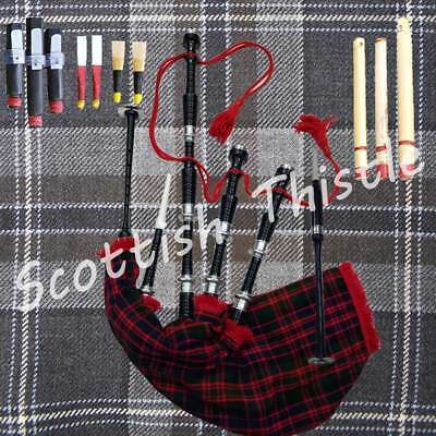 Great Highland Bagpipe Ready Ton Play With  Accessories & Tutor Book