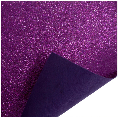 Magenta Trimits Glitter Felt A4 Sheet 23cm x 30cm Christmas Crafts