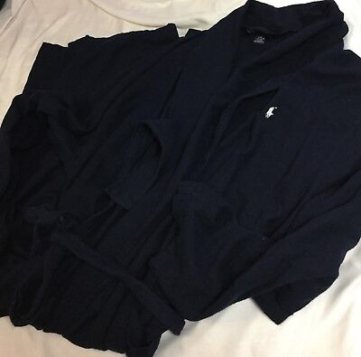 Mens ralph lauren Navy Soft Cotton Robe Size S/M