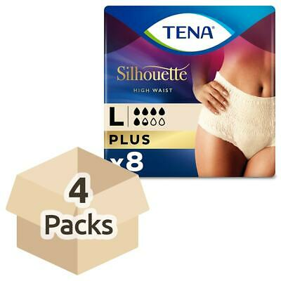TENA Lady Silhouette Pants Plus - Large - 4 Packs of 8 - For Bladder Weakness