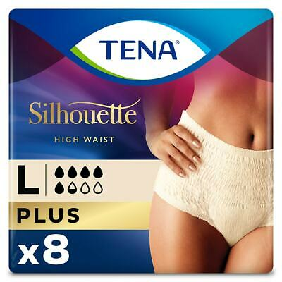 TENA Lady Silhouette Pants Plus - Large - Pack of 8 - For Bladder Weakness
