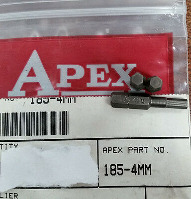 APEX 185-4mm 1/4 HEX BIT