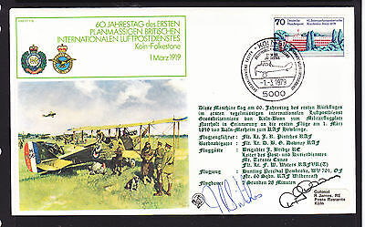 1979 German Flight Cover      Signed