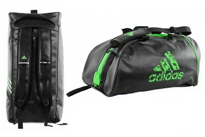 Adidas PU 2 in 1 Sports Bag Holdall Backpack Gym Kit Sports Martial Arts Boxing
