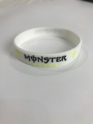 "White Silicone ""Monster Energy"" Wristband - New"