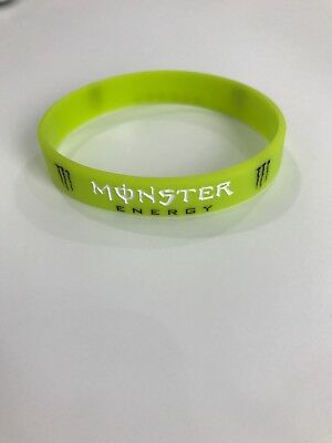 "Lime Green Silicone ""Monster Energy"" Wristband - New"