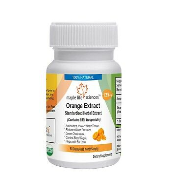 Orange Extract (98% Hesperidin by HPLC) Capsules, Antioxidant, Fat loss