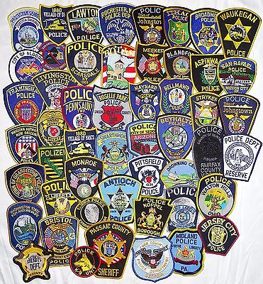 51 pieces mixed LOT  USA/International Police Department  patches NEW!!