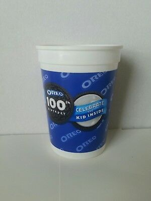 """Oreo Cookie 100th Birthday Plastic 4"""" Cup"""