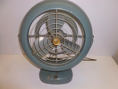 Vtg Old Antique Vornado Desk Fan Blue B28C1-1 B52 Art Deco Industrial Decor