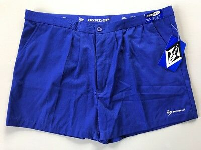 Vintage Dunlop Athletic Coach Shorts Royal Blue NWT NOS Mens 40