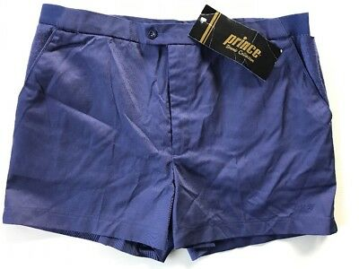 Vintage Prince Brand Tennis Collection Shorts Fordham Navy Blue Mens 40 NWT NOS