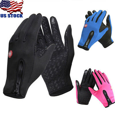 USA Waterproof Men Women Winter Warm Ski Motorcycle Driving Touch Screen Gloves