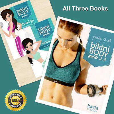 Kayla Itsines Bikini Body Full Guide 2 Books + HELP Diet Guide Training KI BBG