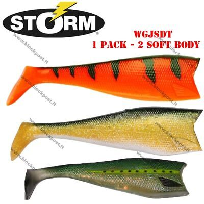 Storm WildEye GIANT Jigging Shad Replacement soft body (2pcs) Two sizes