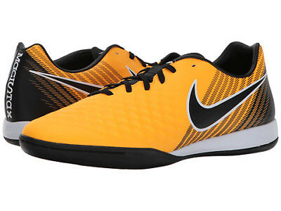 huge selection of 5627b c6d80 Nike Magistax Onda II IC Mens Orange Black Indoor Soccer Shoes Size 7.5