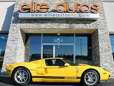 2006 Ford Ford GT Base Coupe 2-Door AS NEW DELIVERY MILES Yellow with Black Stripes RARE McIntosh BBS ONLY 111 MILES