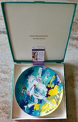 Leroy Neiman Signed - Royal Doulton Pierrot  Plate & Box - Punchinello - Jsa