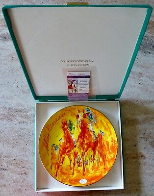 Leroy Neiman Hand Signed - Royal Doulton Winning Colors Plate  - Jsa Authenticed