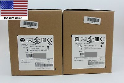 *Ships Today 2016* Allen Bradley 22A-D6P0N104 Power Flex 4 Drive New Sealed 3HP