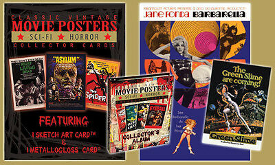 CLASSIC VINTAGE SCI-FI HORROR MOVIE POSTER CARDS x 5 SEALED PACKETS
