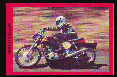 1973 Sunblest Sports Action Tip Top Bread Motorcycling card r