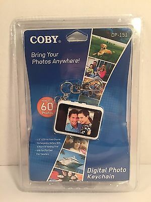 Coby LCD Digital Photo Keychain 1.5 inch DP-151 Brand New Sealed
