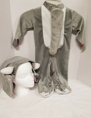 Rubies Halloween Costume Elephant Jumpsuit & Hat Baby Infant  6-12 Month