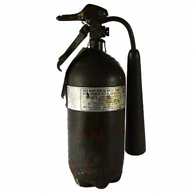 1970 Army Navy Vintage Fire Extinguisher Small Green Military (empty)