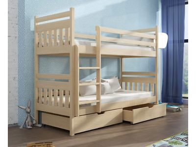 Kid's Bed ADAS Pine Solid Wood Teen Bed Function Babybed with Drawers