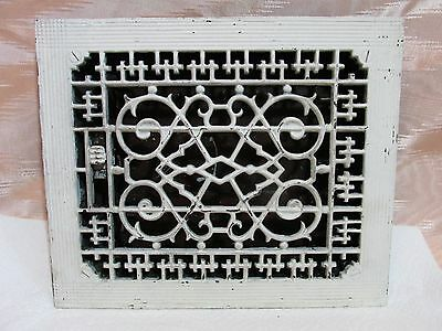 Victorian Cast Iron Heat Register Grate Architectural Salvage, American Brand