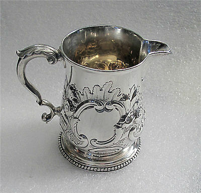 1777 Antique Georgian sterling silver cream jug London Charles Wright