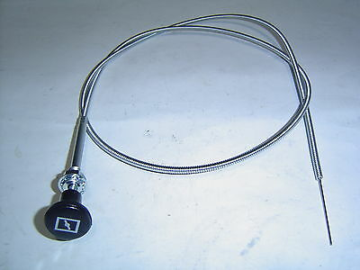 "Universal Choke Cable Car Truck or Boat 48 "" 120cm Has Choke Picture on Knob"