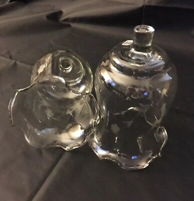 HOMCO Etched Flower & Butterfly PEG Votive Candle Holders