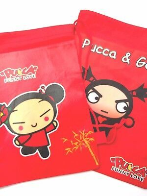 Pucca and  Garu Tote Backback Set of 2  Cute Anime Pixies! Free USA Shipping