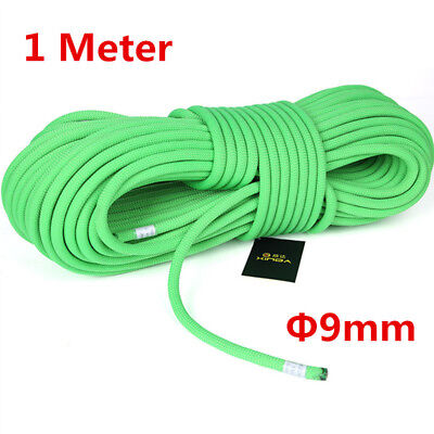 Safty Static Rope Outdoor Climbing Rappelling Ropes Sling Auxiliary Rop Green
